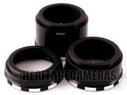 1:1 Auto Macro Extension Tubes for many M42 Screw 35mm Film SLR Cameras and Lenses, Box Instructions